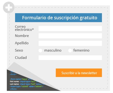 Formulario gratuito de suscripción
