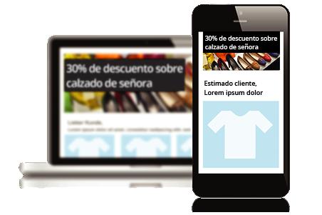 Plantillas de newsletters de diseños adaptables