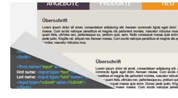 newsletter con texto HTML